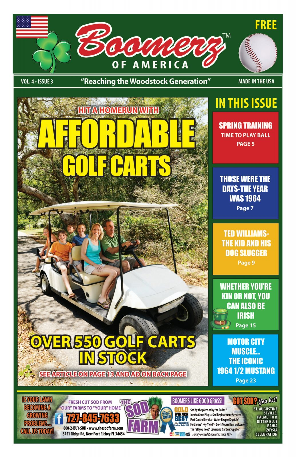 Boomerz of America cover page Affordable Golf Carts