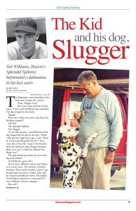 Ted Williams - The Kid and his dog - Slugger