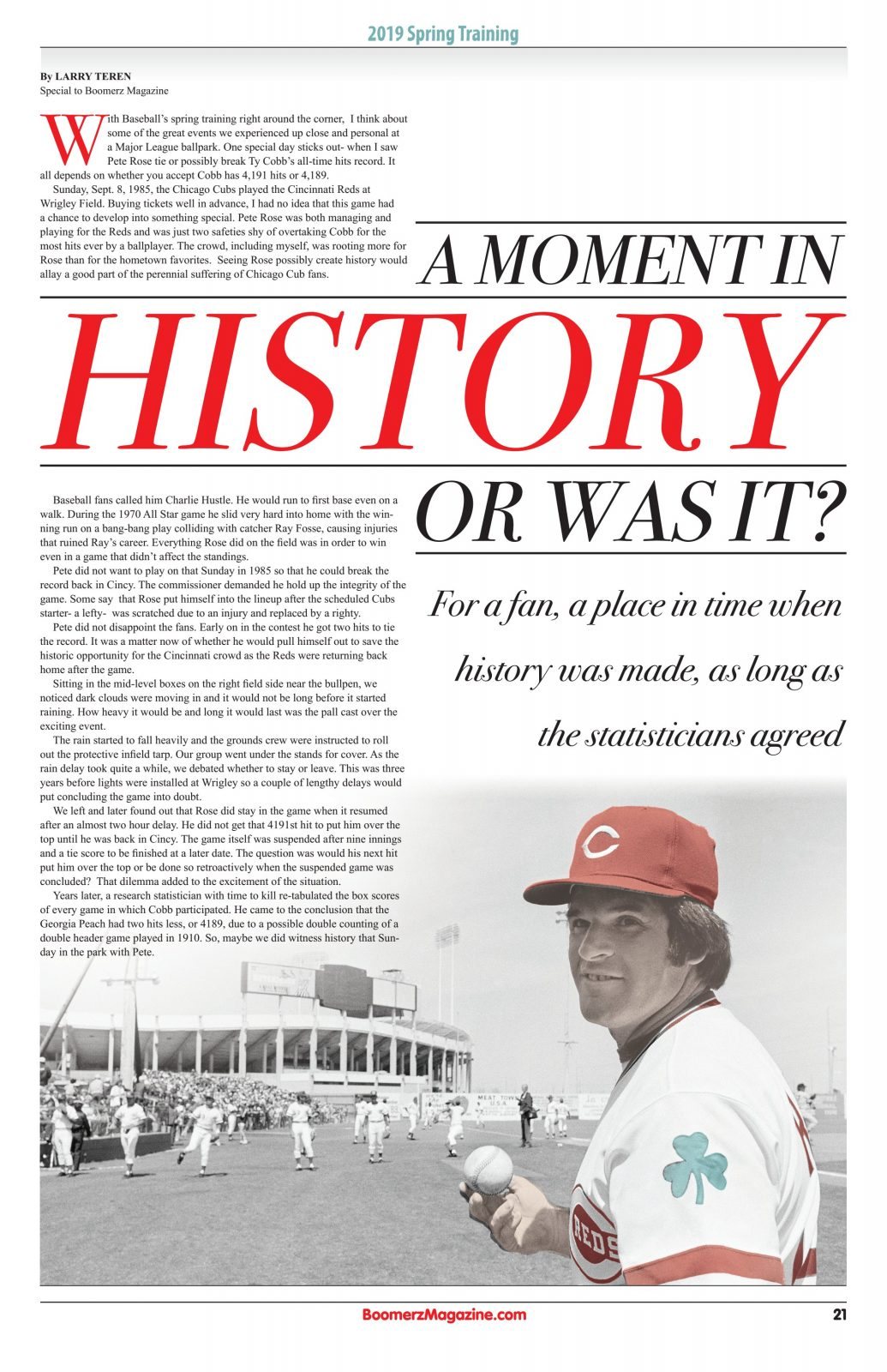 A Moment in History - Pete Rose