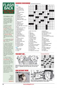 Boomerz Crossword Puzzle Flash Back