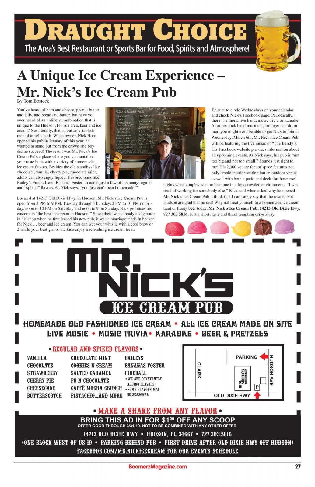 Mr Nicks Ice Cream Pub