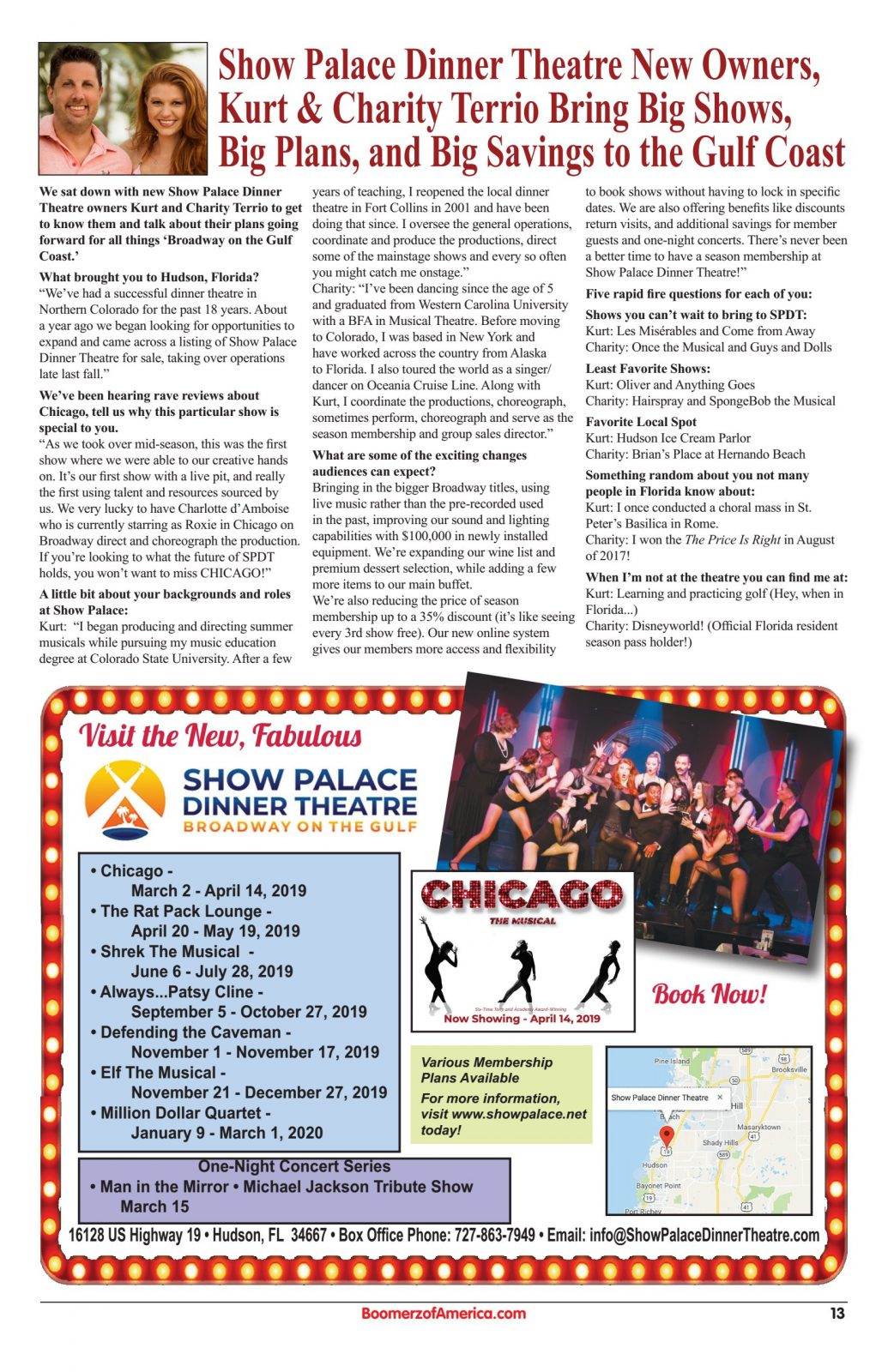 Show Palace Theater Article