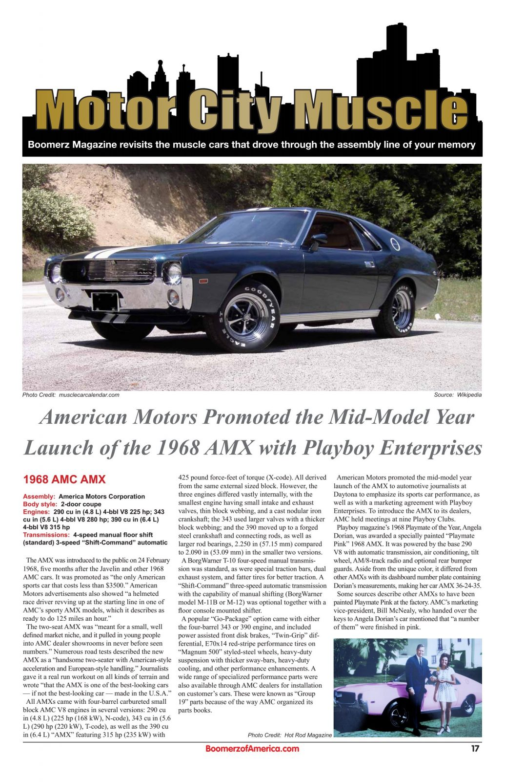Motor City Muscle - 1968 AMC AMX
