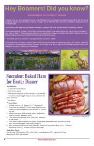 Hey Boomers did you Know - Baked Ham Easter Dinner
