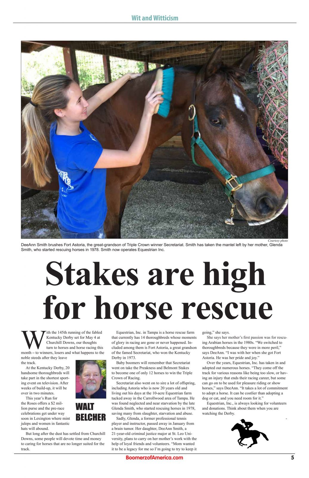 Stakes are high for horse rescue
