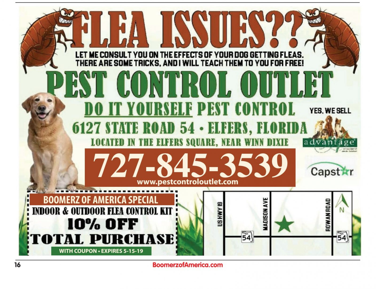 Pest control outlet
