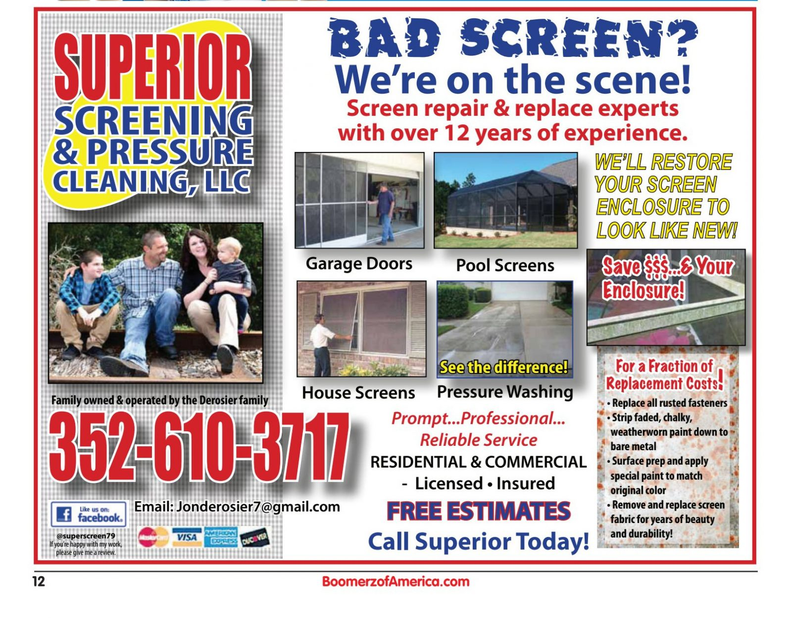 Superior Screening and Pressure Washing