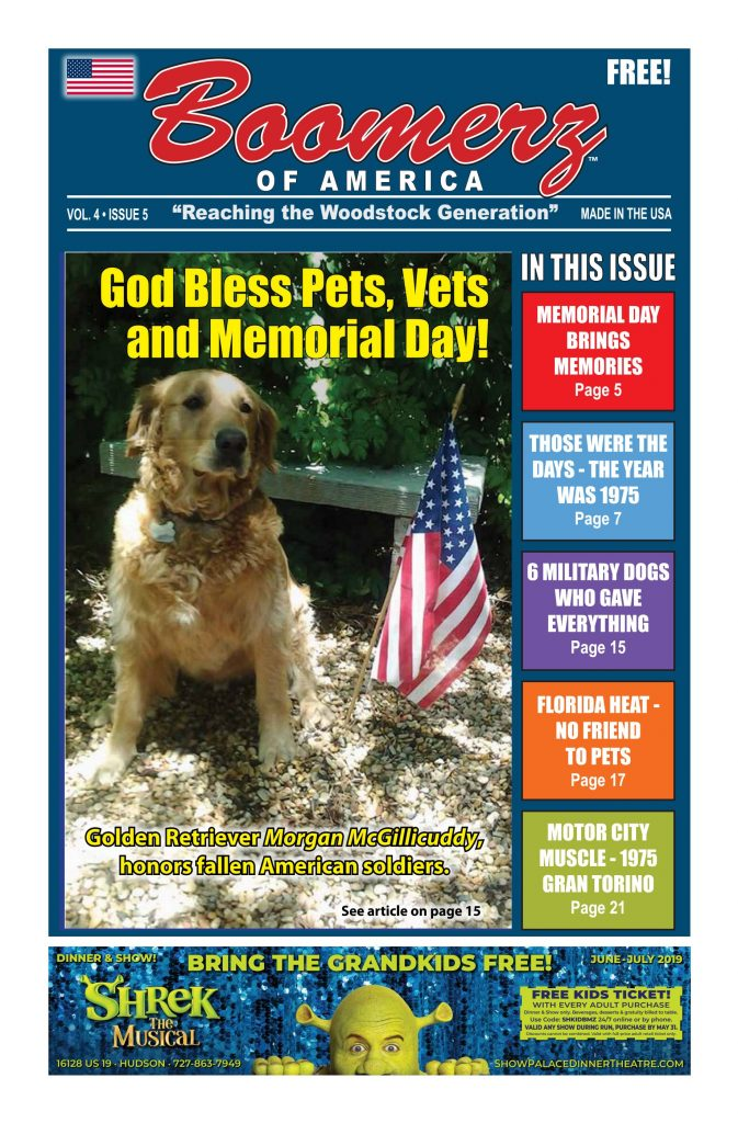 05-May-2019 Boomerz of America Cover Memorial Day and Military Dogs Who served there country