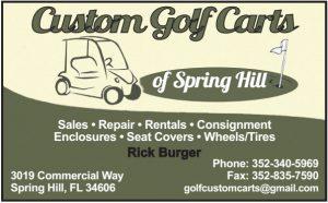 Custom Golf Carts Biz Card