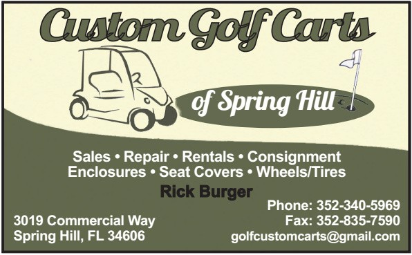 Custom Golf Carts Biz Card