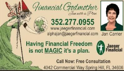 Jan Carrier - Jaeger Financial Biz Card