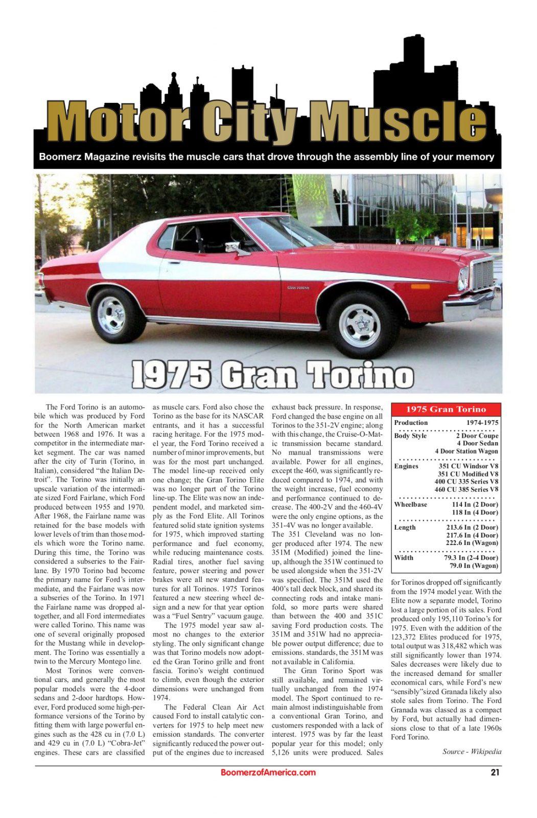 Motor City Muscle 1975 Gran Torino
