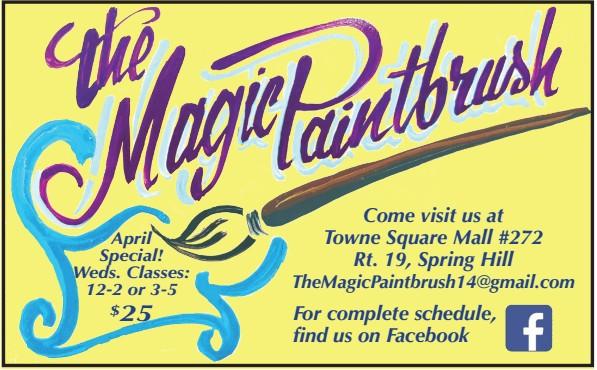 The Magic Paint Brush Biz Card