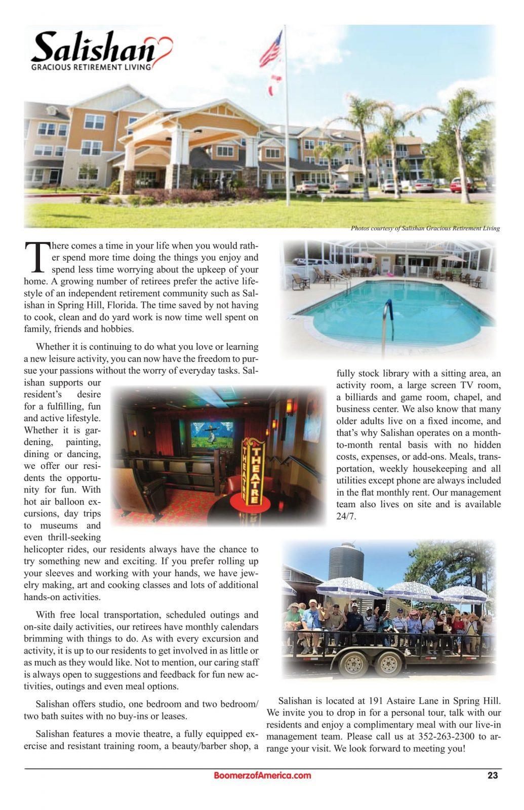 Salishan June 2019 Article in Boomerz of America Magazine