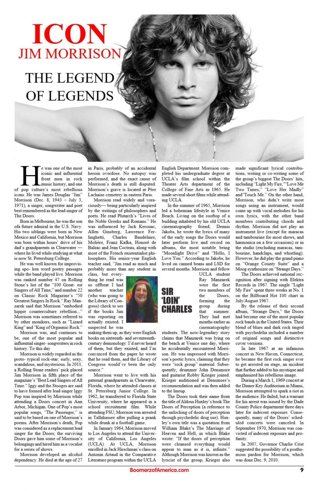 Icon Jim Morrison June 2019 Article