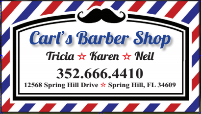 Carl's Barber Shop biz card