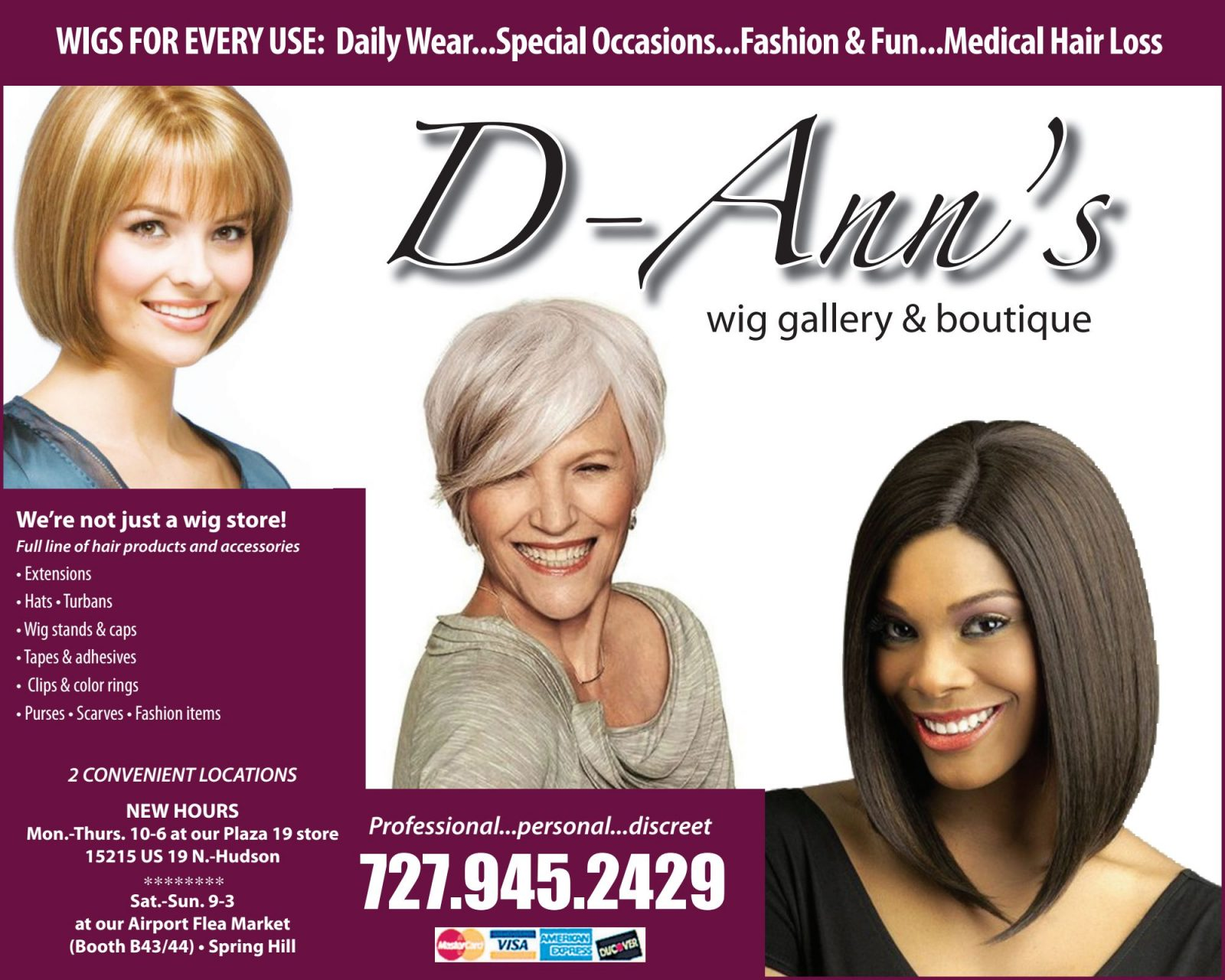 D Ann's Wigs June 2019 Boomerz of America
