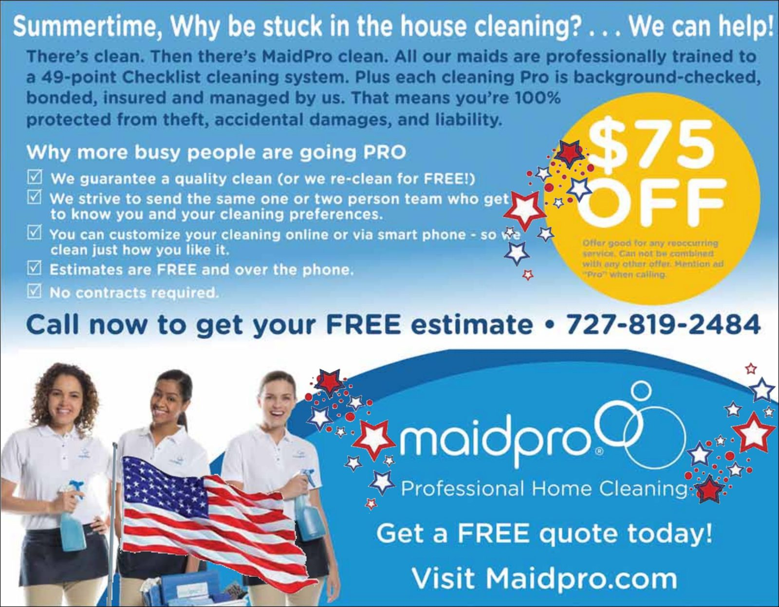 Maid Pro - Boomerz of America June 2019