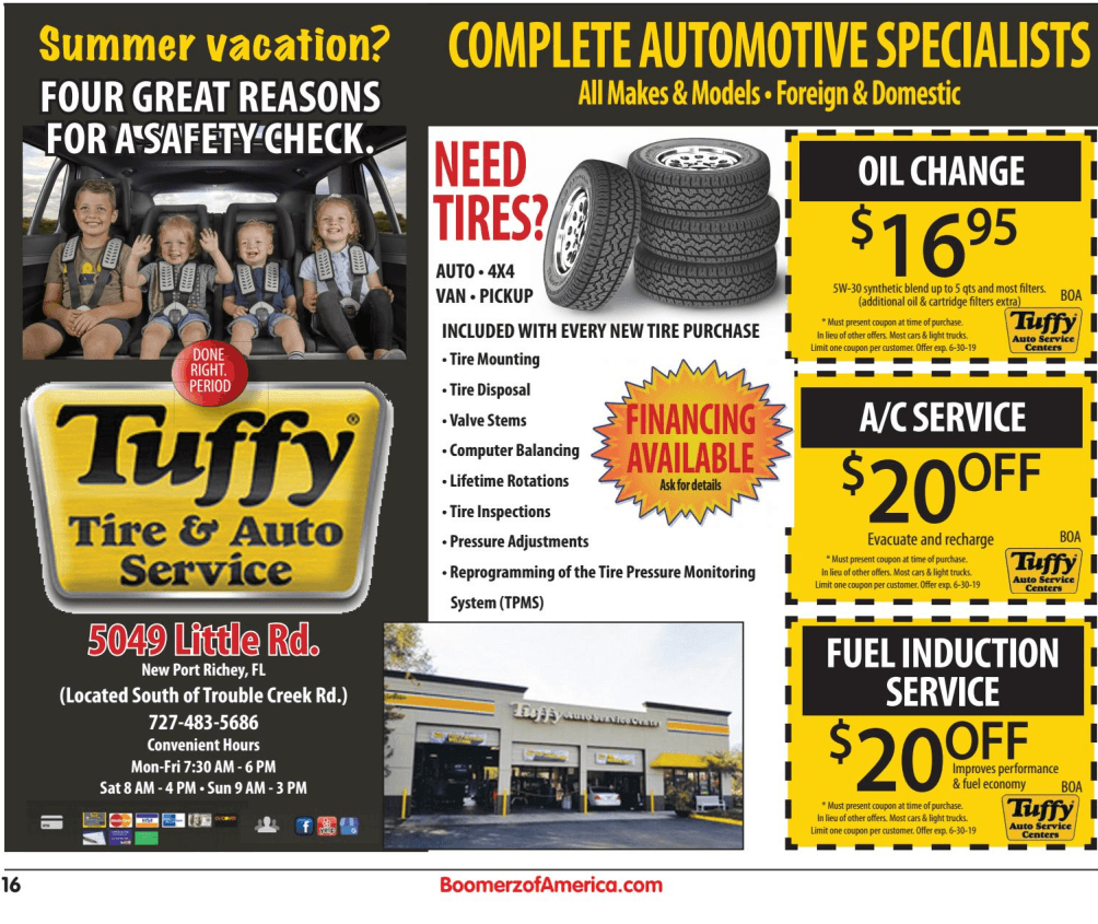 Tuffy Auto Care - Boomerz of America 2019