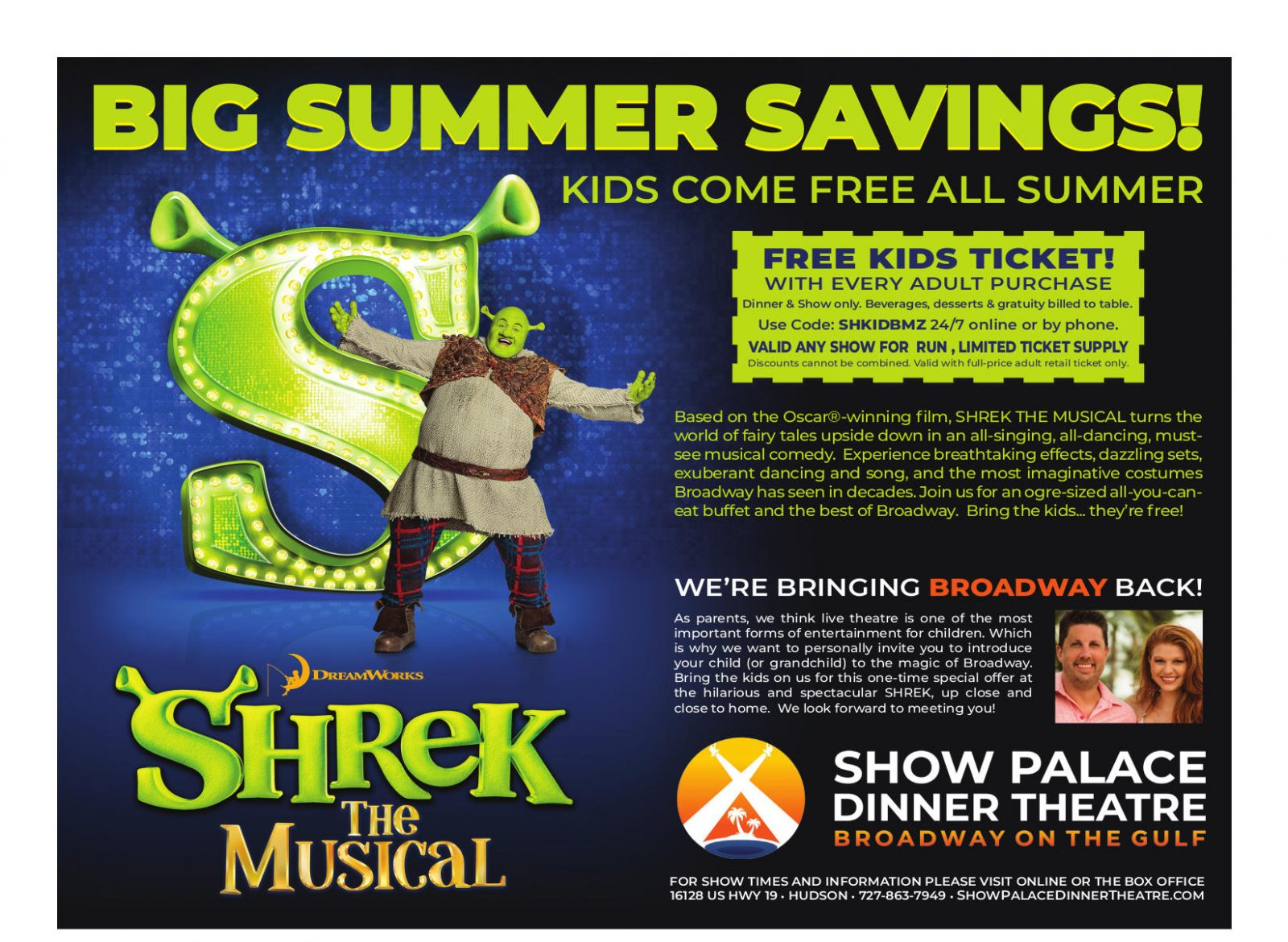 07-July-2019 Boomerz of America The Show Palace Shrek the Musical