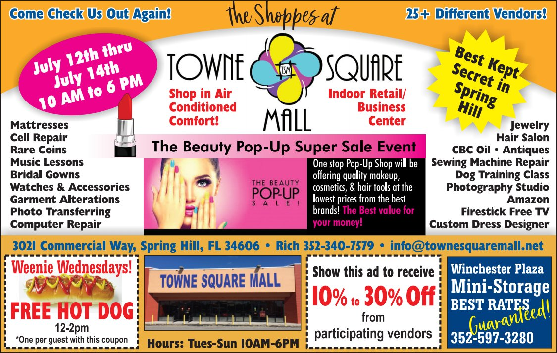 July 2019 Towne Square Mall ad
