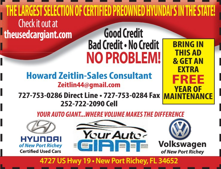 July 2019 Your Auto Giant ad