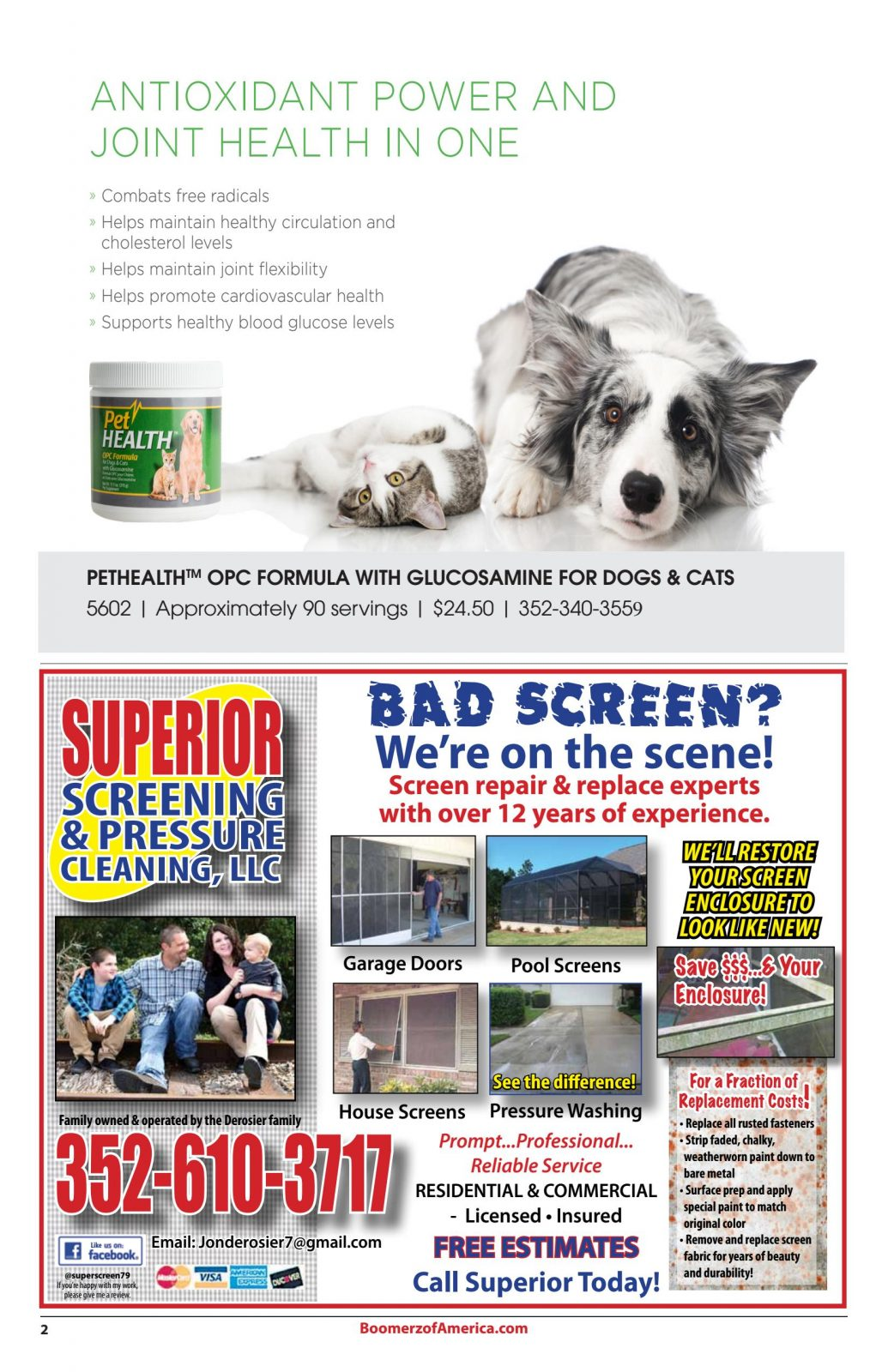 OPC-3 Pet Health Superior Screens