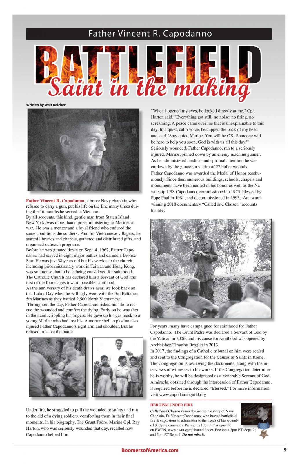 Boomerz August 2019 Saint in the making Father Vincent Capodanno