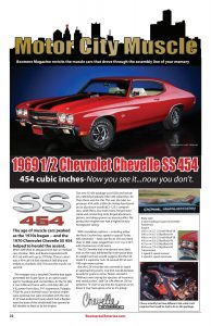 Boomerz August Motor City Muscle 1969 Chevrolet Chevelle SS 454