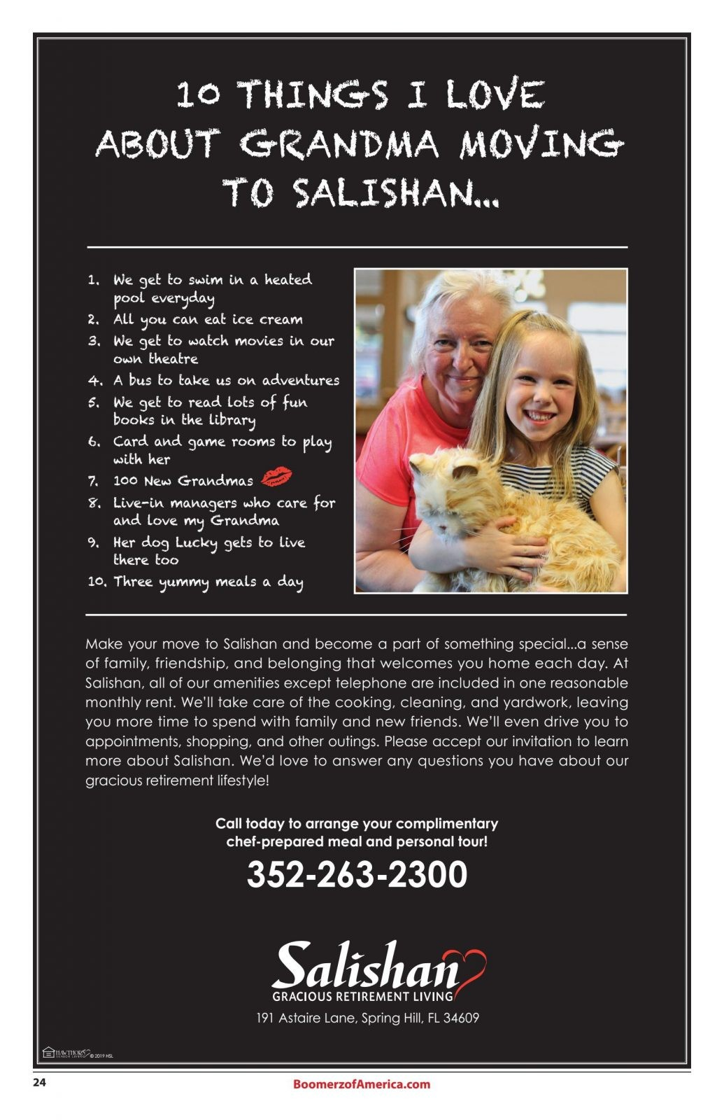 Boomerz August 2019 Salishan 10 Things I Love about Grandma